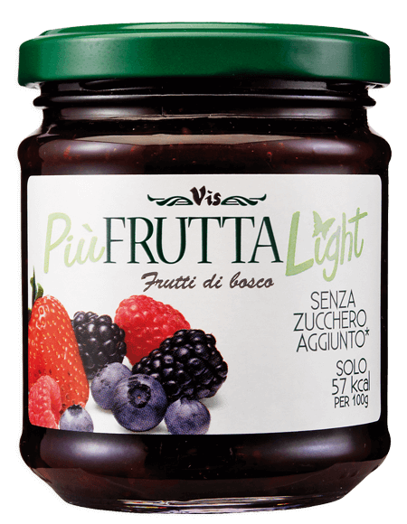 Più Frutta Light Low calory jam Wild berries