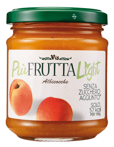 Più Frutta Light Low calory jam Apricot