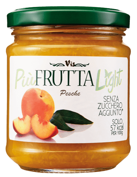Più Frutta Light Low calory jam Peach
