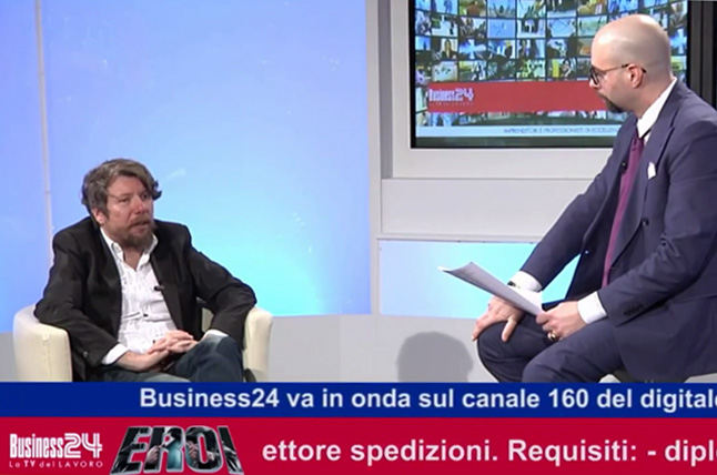 Interview to Giorgio Visini - Eroi 12/04/2017 - Business24 TV