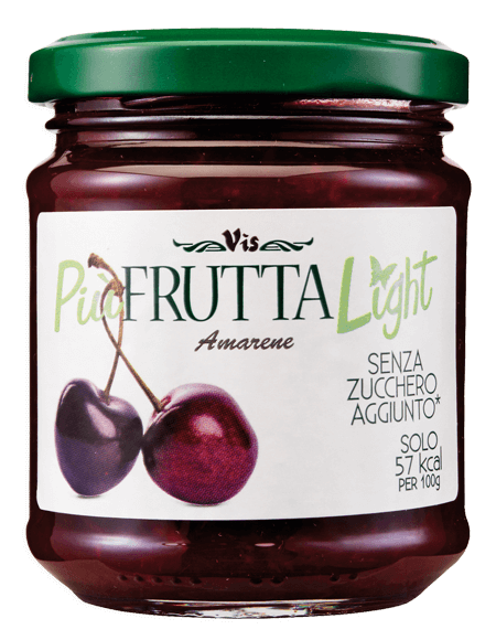 Più Frutta Light Low calory jam Sour cherry