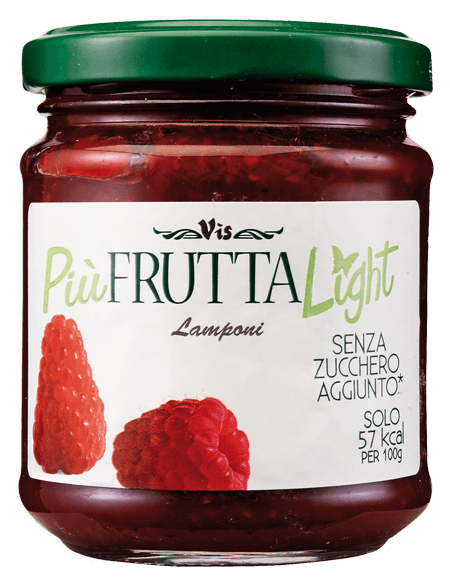 Più Frutta Light Low calory jam Raspberry