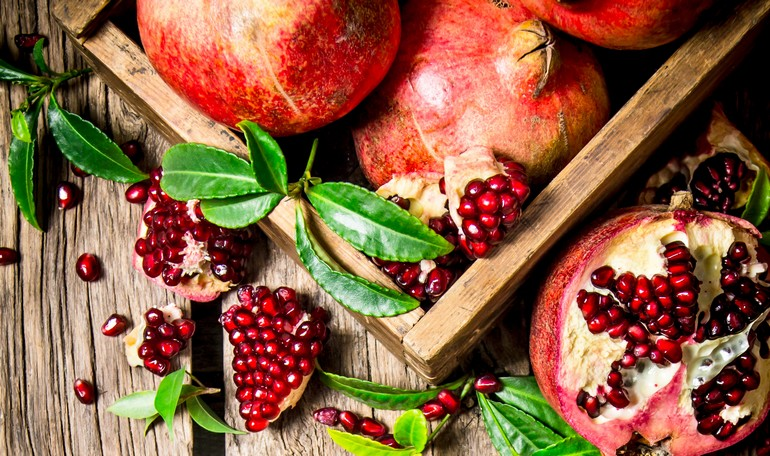 The red rubies of pomegranate