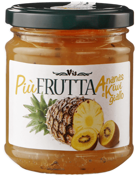 Più Frutta Benessere Nutrition & Taste Pineapple and yellow kiwi