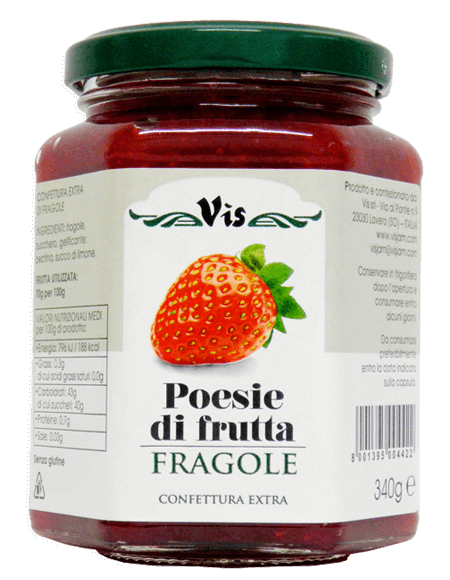 Poesie di Frutta Extra jam 340g Strawberry