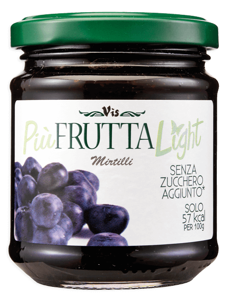 Più Frutta Light Low calory jam Blueberry